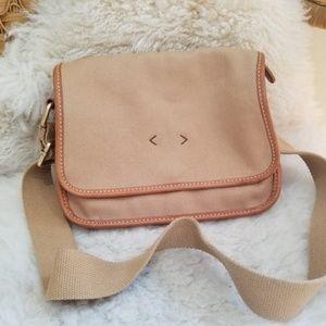 Lands End  Khaki/Beige Shoulder Bag